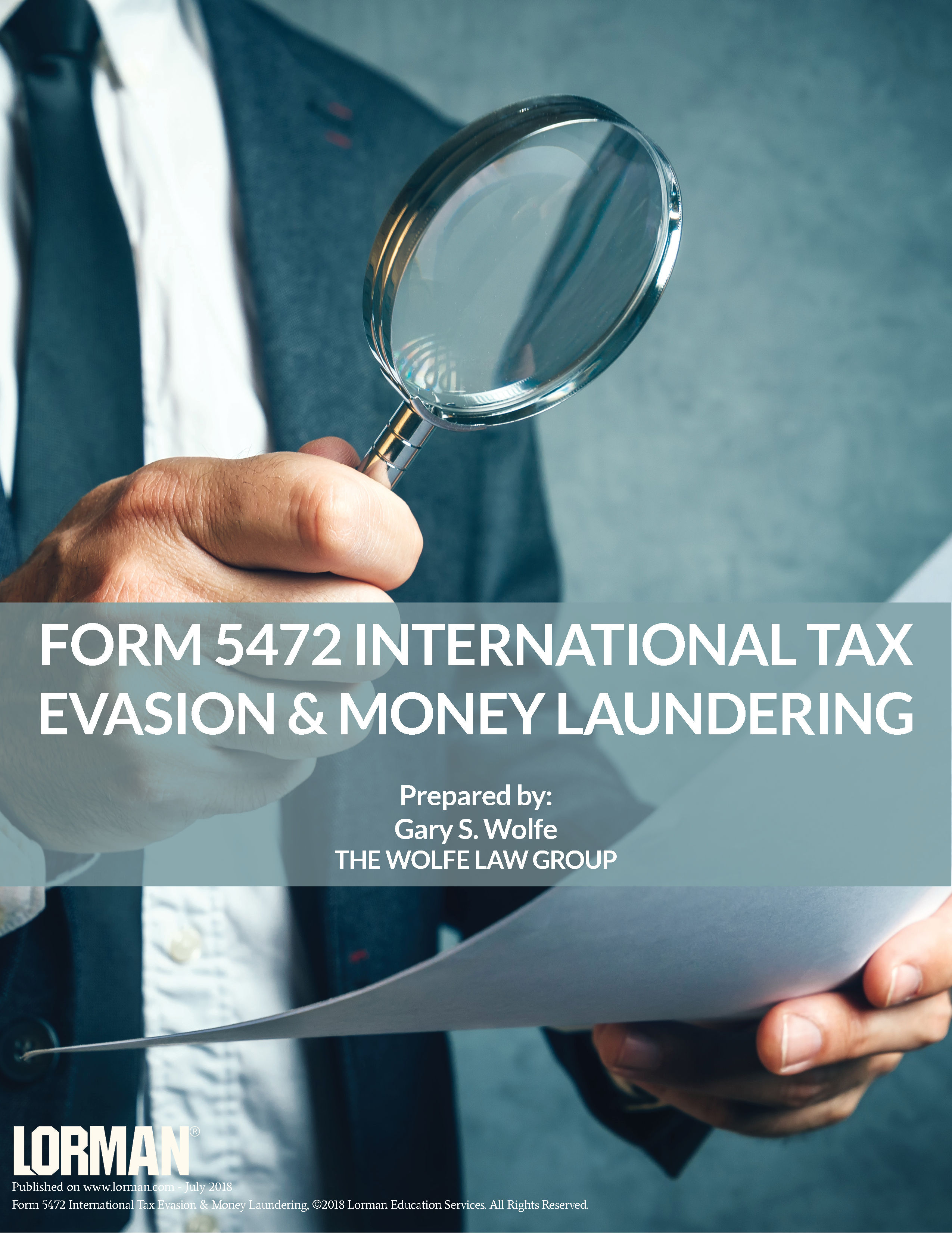 Form 5472 International Tax Evasion & Money Laundering