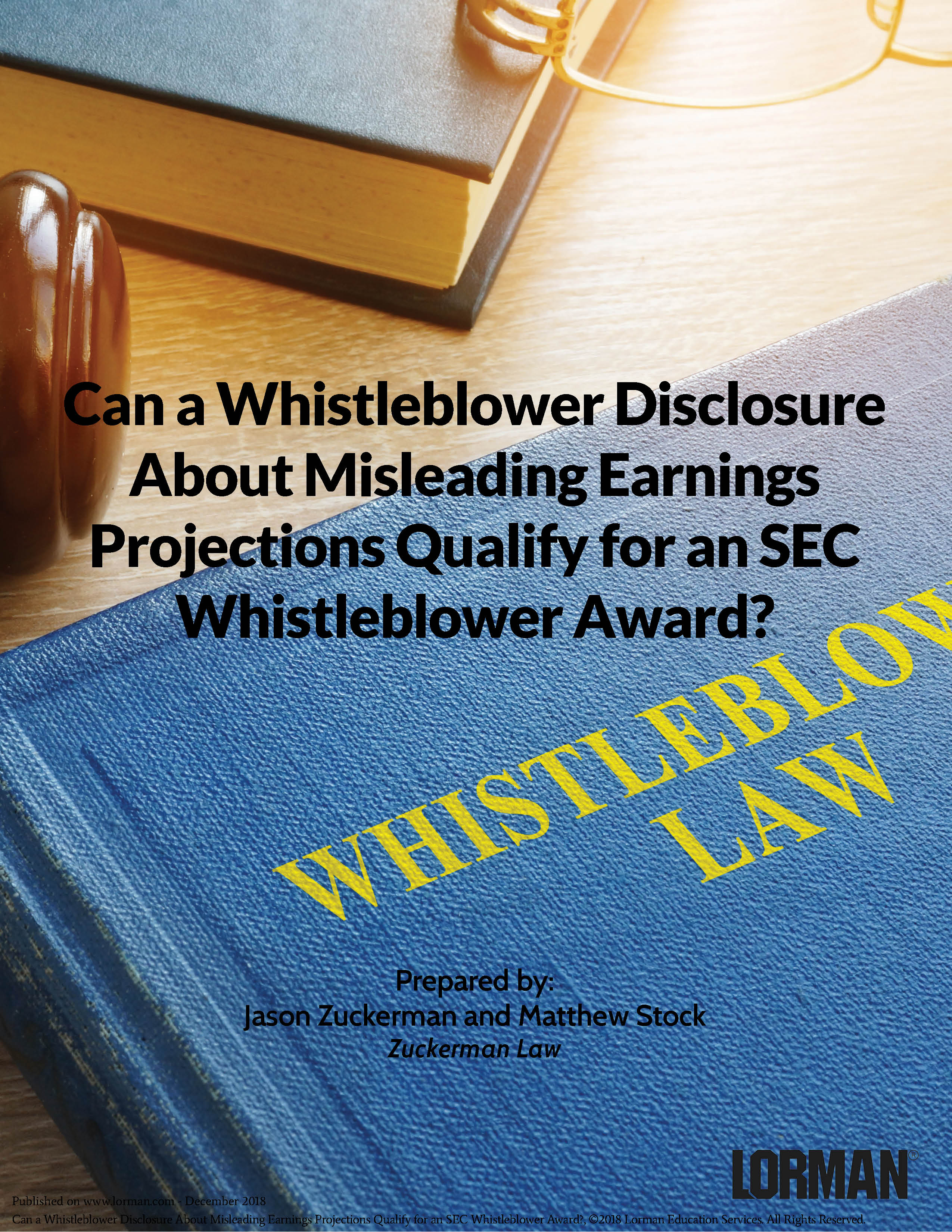 Can Disclosure About Misleading Earnings Projections Qualify for an SEC Whistleblower Award?