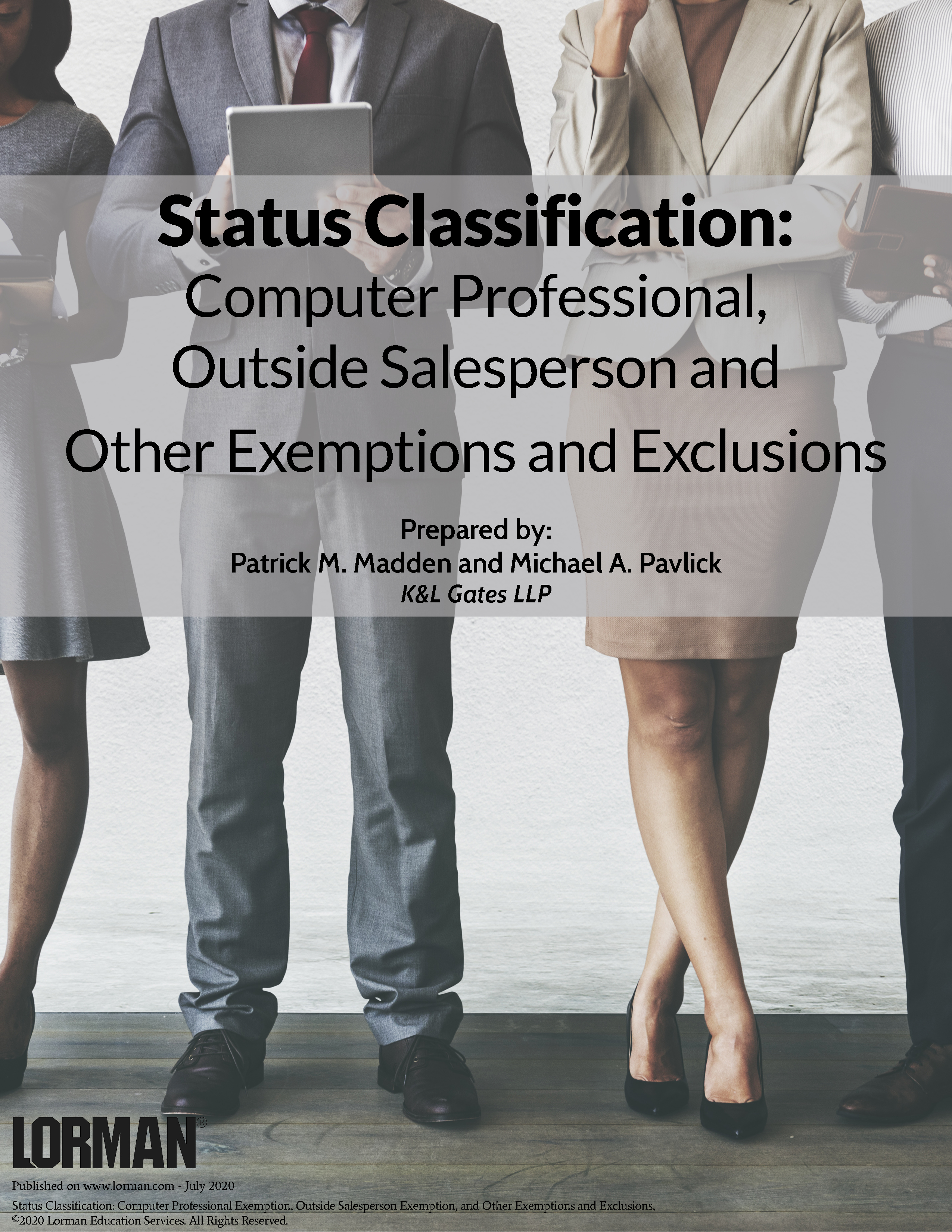 Status Classification: Computer Professional, Outside Salesperson & Other Exemptions & Exclusions